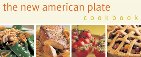 The New American Plate Cookbook front cover section