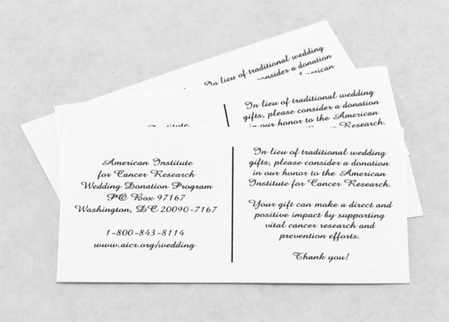 Complimentary Wedding Invitation Inserts