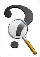 Question Mark and magnifying glass