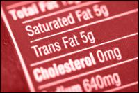 Nutrition Label fats