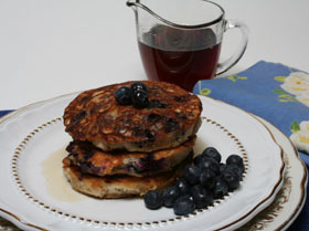 Flaxseed and Blueberry Pancakes