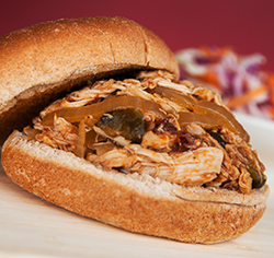 Tex-Mex Pulled Chicked Sandwich