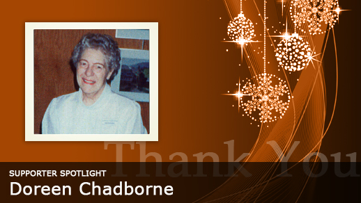 Supporter in the Spotlight: Doreen Chadborne