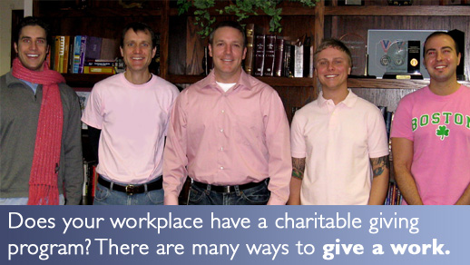 Does your workplace have a charitable giving program?  There are many ways to give at work.