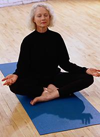Older Woman Meditation Posture